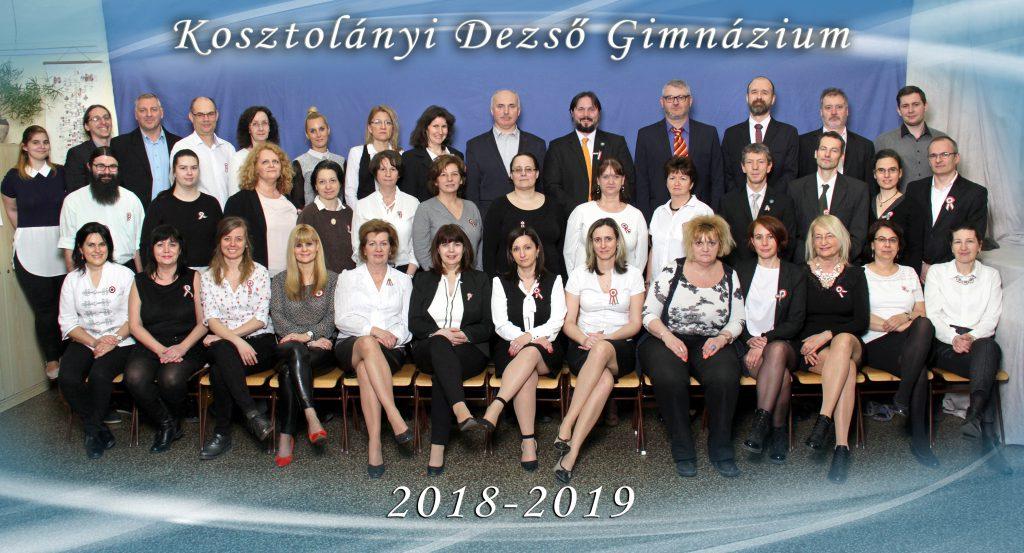 Kosztolányi Dezső Gimnázium - Nevelőtestület 2018/2019